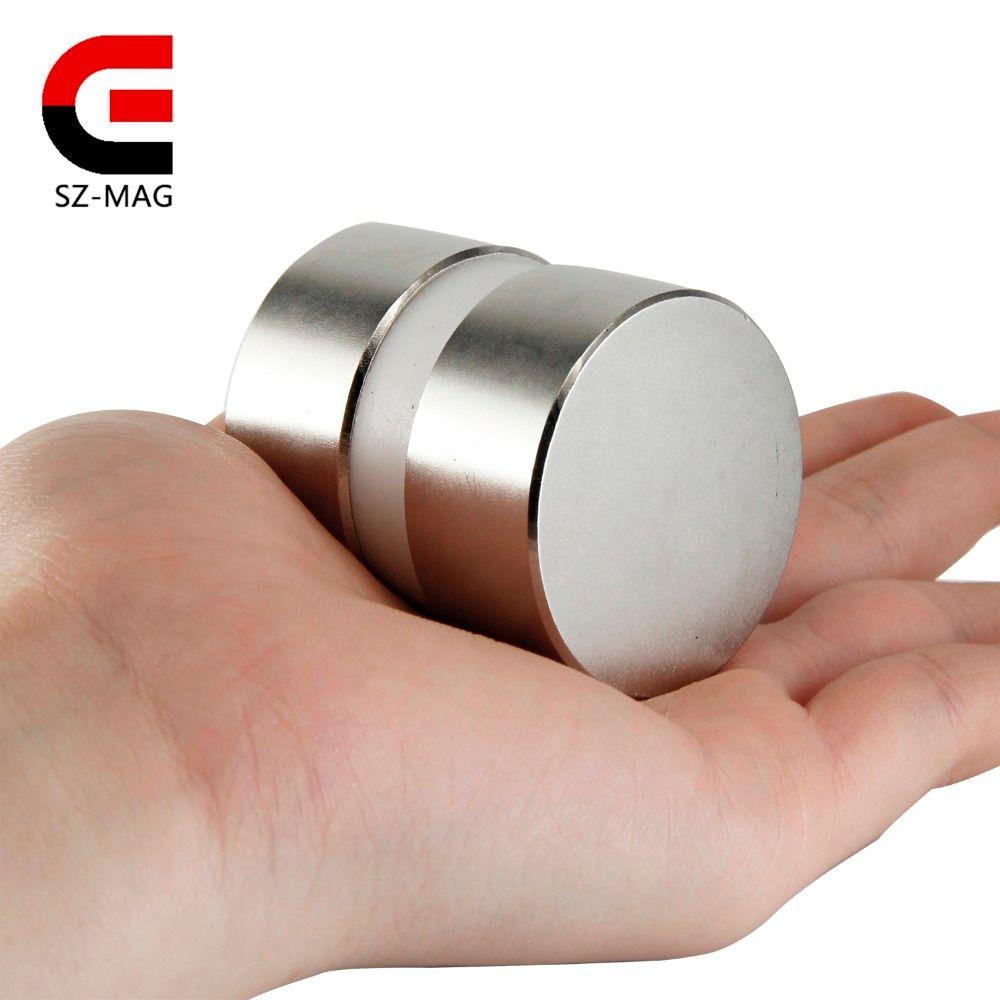 2 pièces super puissant Dia 40mm x 20mm néodyme aimant 40x20 disque magnétique rare earth NdFeB N52 aimants