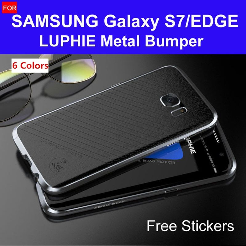 s7 edge bumper G935 original LUPHIE amazing highly oxidized aluminum metal frame for samsung galaxy s7 case G930 hard cases