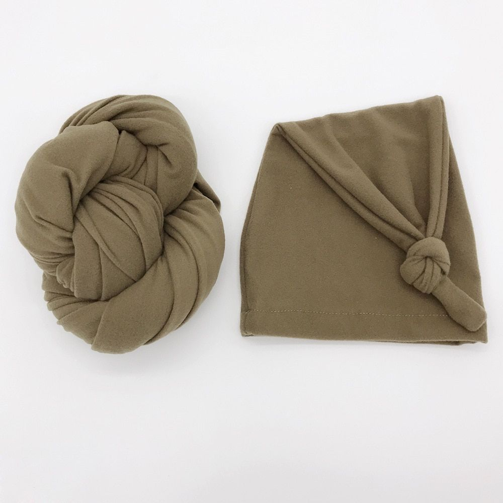 Neugeborenen Fotografie Requisiten Baby Stretch Decke Foto Kappen Set, Baby Flanell Wrap Winter Swaddle Schießen Zubehör, # P2215