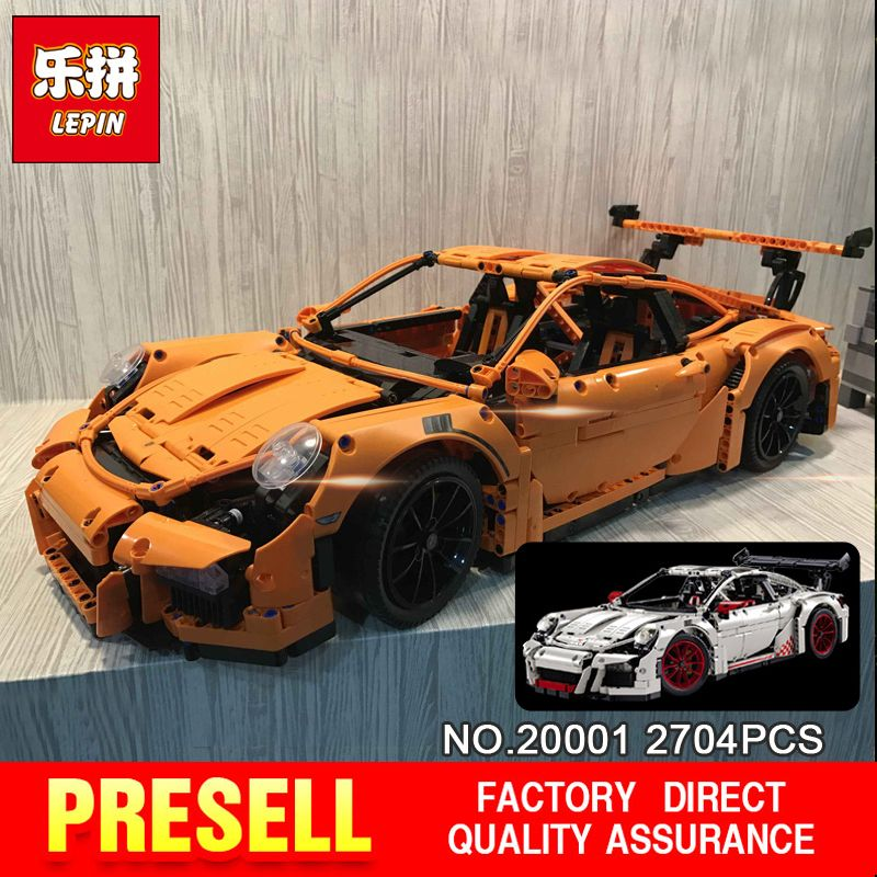 New LEPIN 20001 technic series Race Car Model Building Kits Blocks Bricks Compatible 42056 Boys Gift Educational Toys