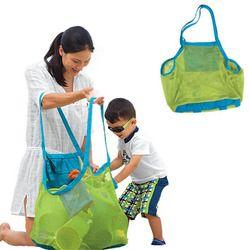 Children sand away beach mesh bag Children Beach Toys Clothes Towel Bag baby toy Storage Bags Sundries Bags