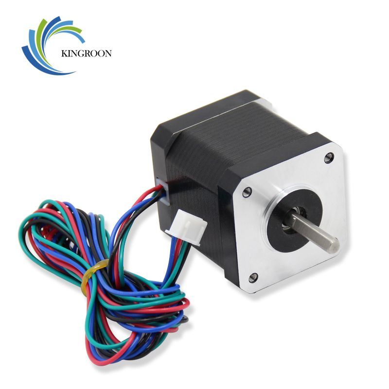42 Stepper Motor Nema 17 4-Lead 42BYGH 1.7A (17HS4401S) with 4 Pin Dupont Cable Part For CNC XYZ 3D Printers Parts Accessories