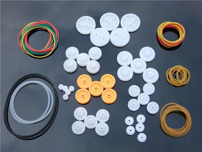 Viel DIY Kunststoff Gürtel Radsätze mit Stick riemenscheibe Modell Fitting Kostenloser Versand Russland