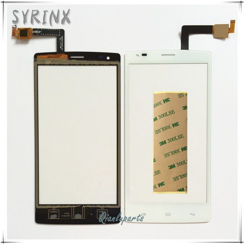 Syrinx With Tape Mobile Phone Touchscreen Front Glass Panel For Fly iq 4505 iq4505 quad era life 7 Touch Screen Digitizer Sensor