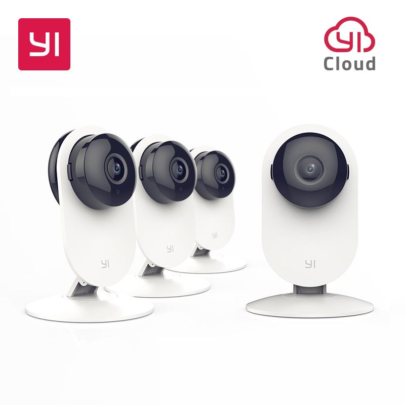 YI 4pc Home Camera Wireless IP Security Surveillance System with Night Vision for Home <font><b>Office</b></font> Shop Baby Pet Monitor YI Cloud
