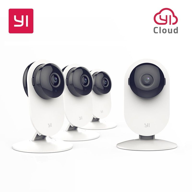 YI 4pc Home Camera Wireless IP Security Surveillance System with Night Vision for Home Office Shop Baby Pet Monitor YI Cloud