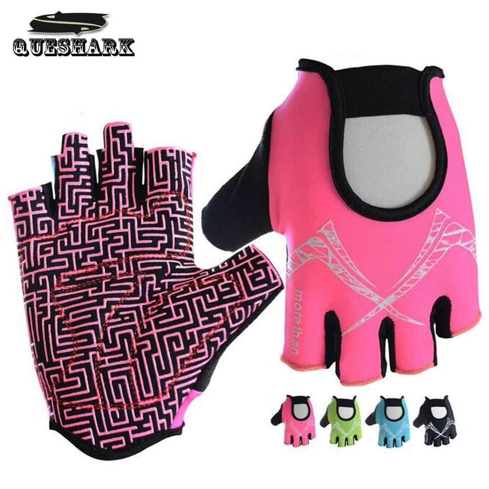 Queshark Men & Women Body Building Fitness Gloves Slip-Resistant Sports Weight Lifting Gloves Training Exercise Gym Gloves