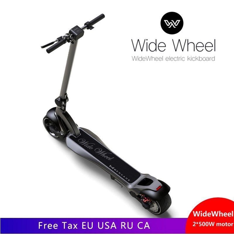 Elektrische Skateboard für Widewheel 500 W Zwei Rad Elektro-scooter 48 V Breite Rad Dual moter roller