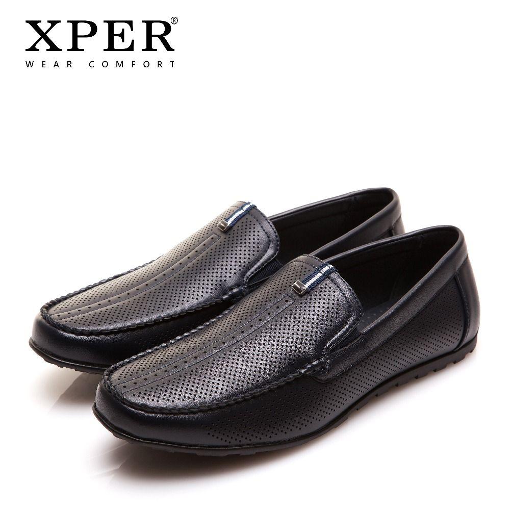 XPER Brand Fashion Men Casual Shoes Wear Comfortable Men Loafers Holes Shoes Men Walking Shoes Business Male Footwear #YWD86130