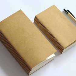 Standard/Poche Kraft Papier Cahier Vierge Bloc-Notes Journal Journal Cahier de voyage Recharge Planificateur Organisateur Papier De Bourrage