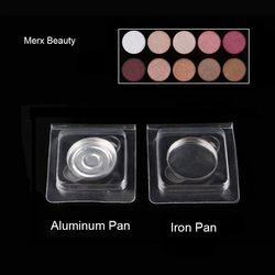29mm Putaran Aluminium pan pot dengan PVC clam shell untuk DIY Eyeshadow, magnetic pan dan aluminium pan di PVC 100 sets/lot MERX KECANTIKAN