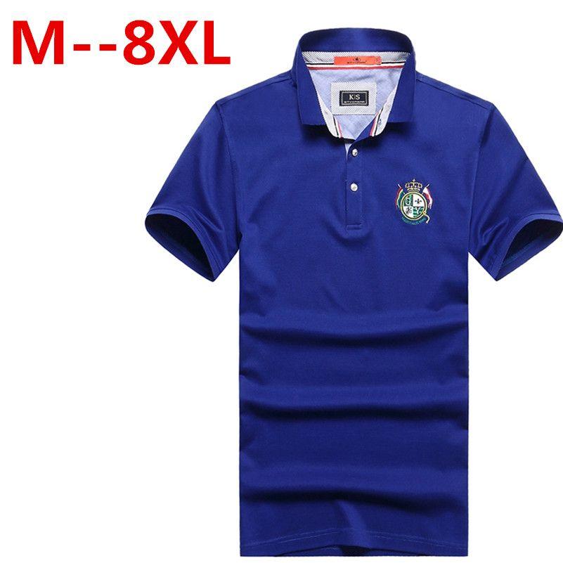 9xl 8xl 6xl 5x männer polo shirt feste beiläufige polo homme für männer t-shirt tops hochwertigen mercerisierter baumwolle camisa polo slim fit