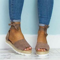 Femmes Sandales Mode Talons Bas Sandales Pour Chaussures D'été Femme Bride à la cheville Appartements Sandales Chaussures Fond Mou Chaussures de Sport 35-44