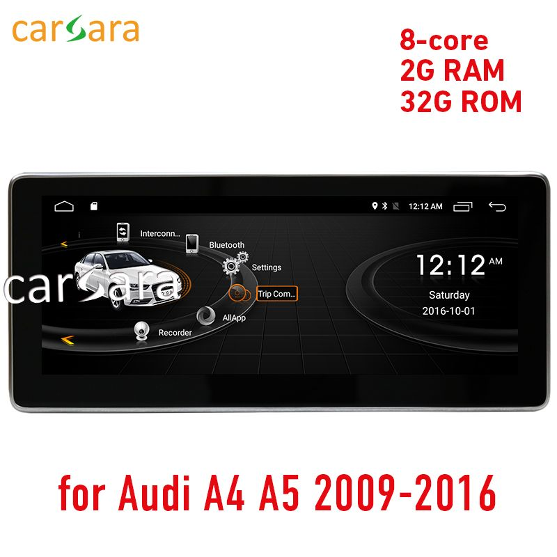 carsara 2G RAM Android display for Audi A4 A5 2009-2016 10.25