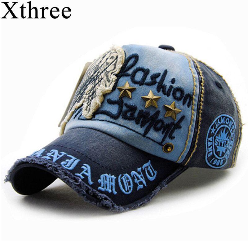 Xthree marke baumwolle mode stickerei antiken stil Baseballmütze casquette hysteresenhut für männer frauen