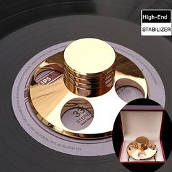 High-End Copper Material LP Turntables Metal Disc Stabilizer LP STABILIZER Record Weight/Clamp With High Quality Package Box