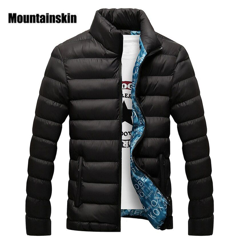 Mountainskin hombres chaqueta de Invierno 2017 marca casual mens Chaquetas y Abrigos grueso parka hombres Outwear 4xl chaqueta ropa masculina, eda104