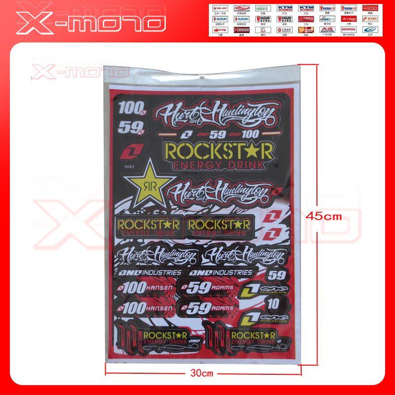 Rockstar Decals Stickers for pit bike dirt bike motorcycle motocross supermoto ATV Sticker Dirt Bike CRF YZF KXF EXC Car Sticker
