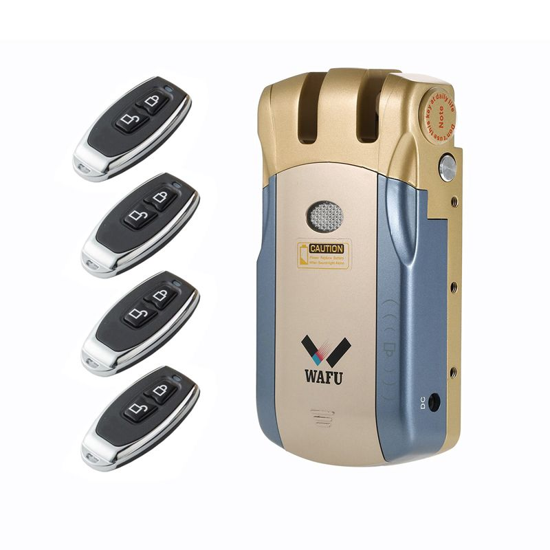 Keyless Electronic Invisible Lock Wireless Remote Control Opening Door Lock Intelligent Smart Home Door Security Lock WF010