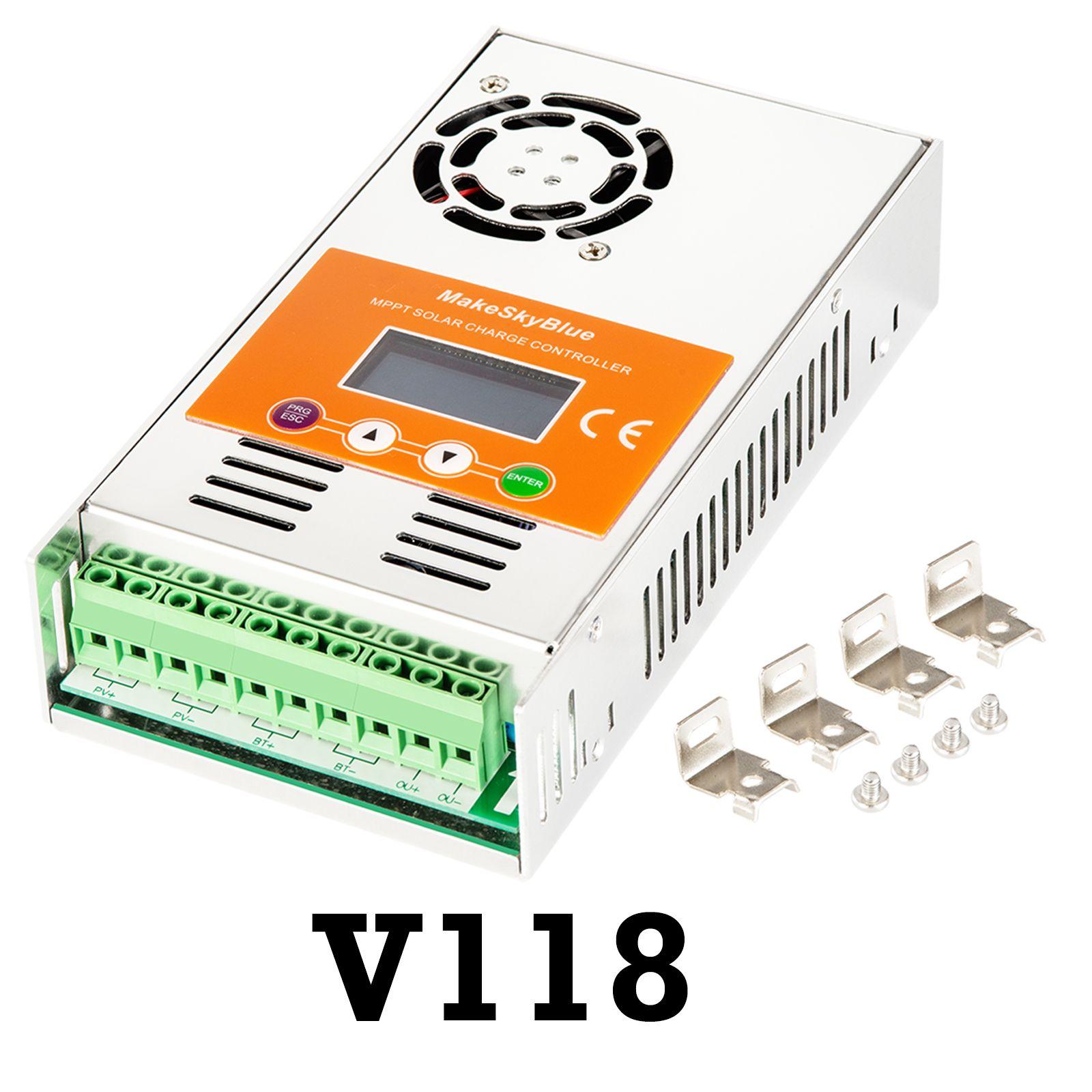MakeSkyBlue MPPT Solar Laderegler 60A-V118 Power Regler für 12 V 24 V 36 V 48 V Blei Säure Gel liFePO4 Lithium-Batterie LCD