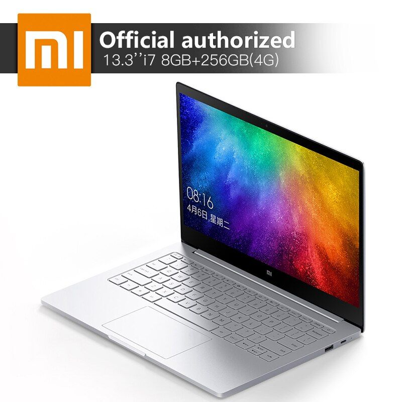 Original Xiaomi Notebook Air Intel Core i7-7500U 13.3'' 8GB DDR4 256GB SSD MI Computer 940MX 1GB GDDR5 Windows10 4G Laptop