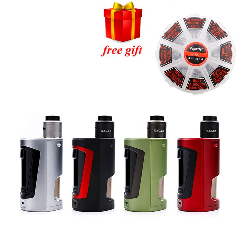 Free gift Original Geekvape GBOX Squonker kit Powered by 2 18650 batteries with Radar RDA 8ml Squonk bottle