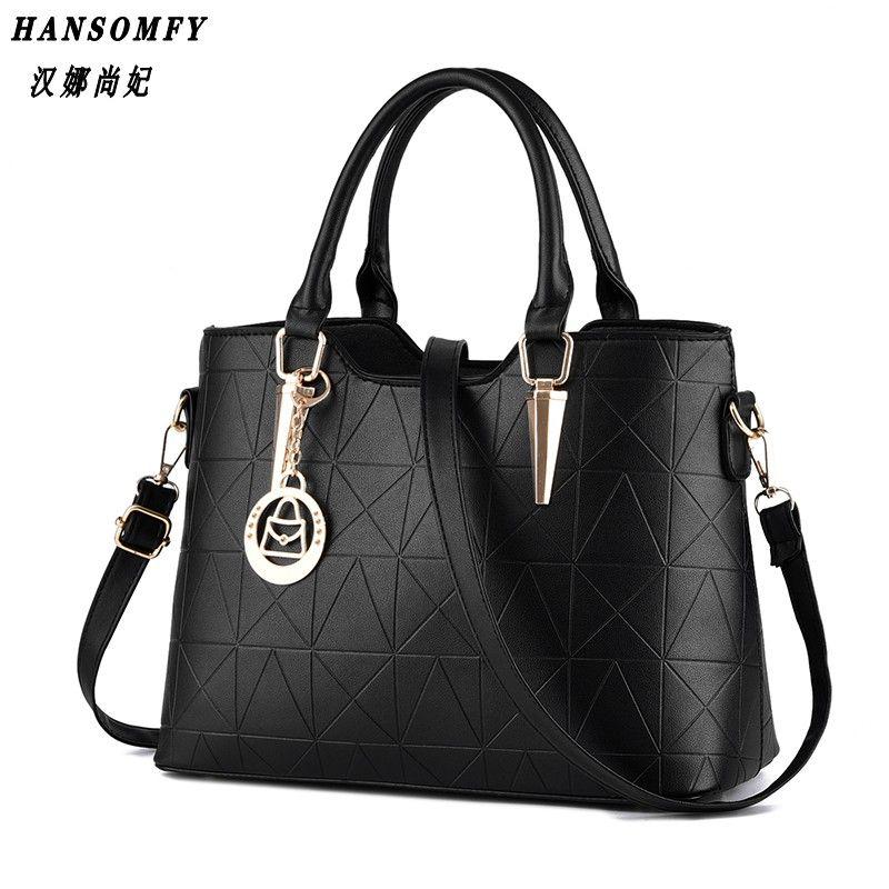 HNSF 100% Genuine leather Women handbags 2017 New sweet lady temperament female bag fashion handbags Shoulder Messenger Handbag