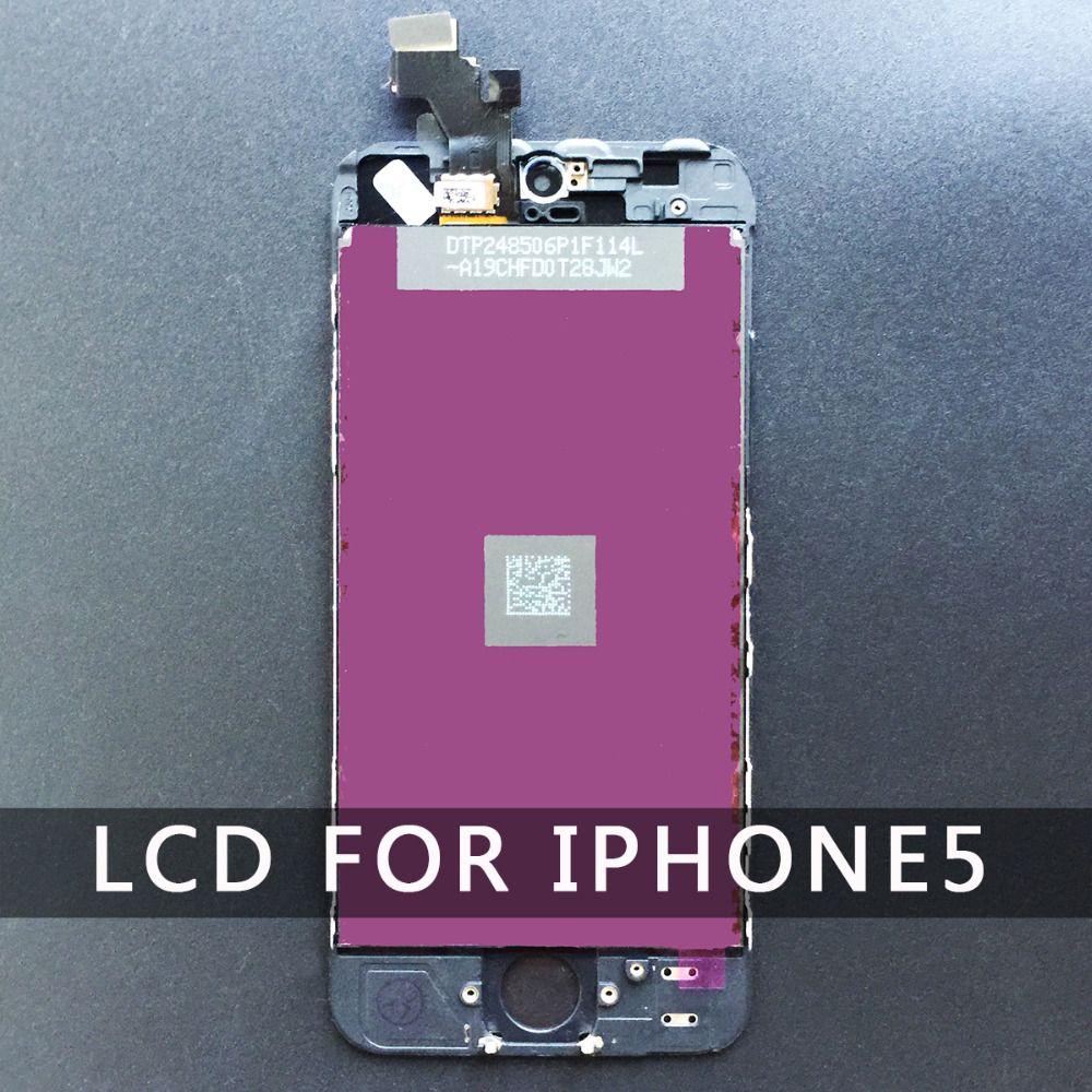 Планшета дисплей для iPhone 5 5S 6 сенсорный ЖК-экран Замена сборки AAA Качество Белый Черный Бесплатная доставка для iPhone 6 ЖК