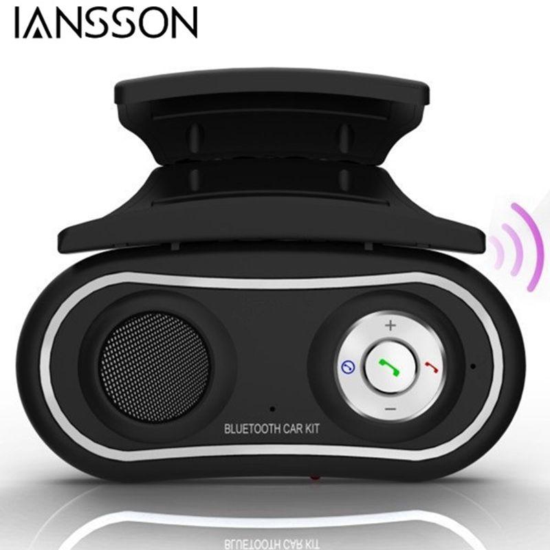 2016 New Arrival Universal Multipoint Steering Wheel Handsfree Bluetooth Car Kit Speakerphone Phone Speaker Audio Receive