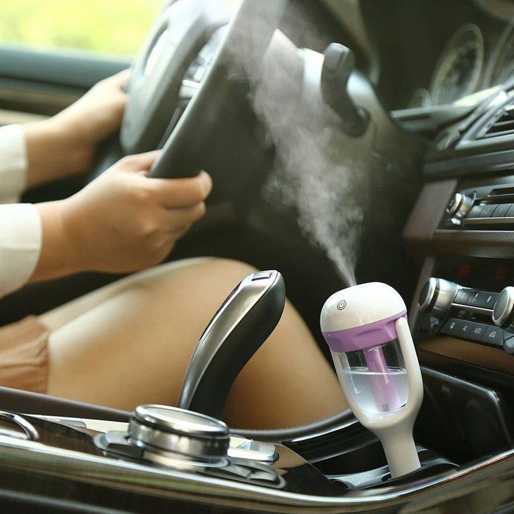 MD-Nanum chargeur De Voiture Humidificateur Mini Purificateur D'air Auto Désodorisant Aromathérapie Mist Maker avec 2 pcs éponges Arôme diffuseur