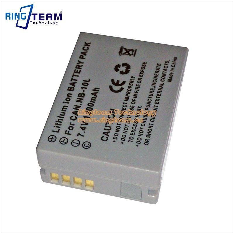 Digital Battery Pack NB-10L NB10L for Canon PowerShot SX60 HS, SX50 HS, SX40 HS, G15, G16, G1 X and G3 X Cameras