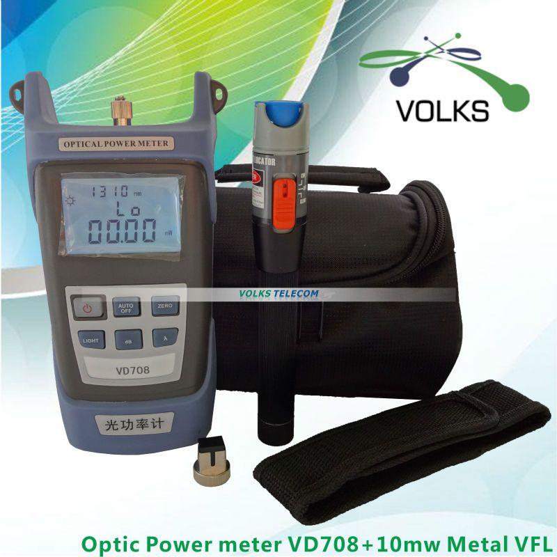 10 mW Visuel Localisateur de défaut De Fiber Optique Testeur de Câble et Fiber Optique Métal Power Meter livraison gratuite