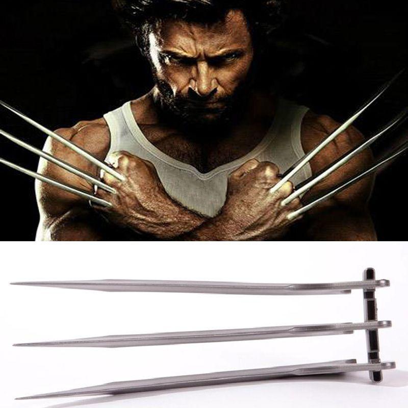 Takerlama 2pcs/pair X-Men Wolverines Logan Blade Claw Paw 1:1 Cosplay Prop Halloween Cosplay Prop Super Hero Cosplay Weapons Toy