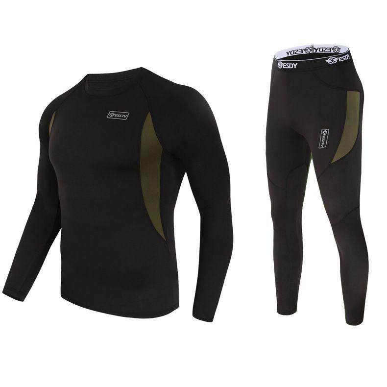 De calidad superior nueva ropa interior térmica conjuntos de ropa interior de compresión fleece sweat ropa interior térmica de secado rápido hombres ropa