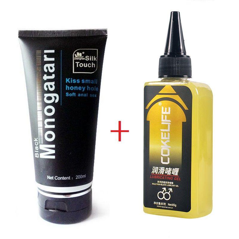 Analgésique Anal sexe lubrifiant mâle douleur-soulager la lubrification Soluble dans l'eau vagin et Anal Gel produits sexuels pour adultes 200ml + 85g