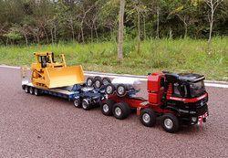 1/14 Skala Paduan CNC Traktor Trailer RC untuk Tamiya Benz Scania R620 R470 R730 3363 3348 1851 Actros Volvo King tidak Acuh Man Tgx TGS