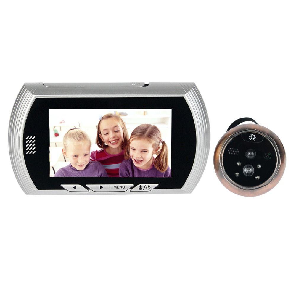 4.3 дюймов видео Дверные звонки ЖК-дисплей Цифровой глазок электронный глаз 120 градусов ИК Камера Дверные звонки для дома квартира f1622d
