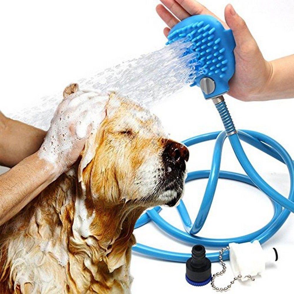 Outil de bain pour animaux de compagnie masseur confortable outil de douche nettoyage lavage des pulvérisateurs de bain taille de la paume chien laveur pulvérisateur Massage des mains
