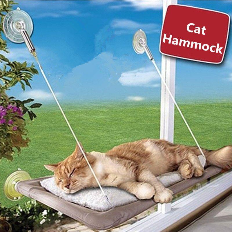 Sucker-style Cat Hammock Window Cat Basking Window Perch Cushion Sunny Dog Cat Bed <font><b>Hanging</b></font> Shelf Seat Great for Multiple Pet Cat