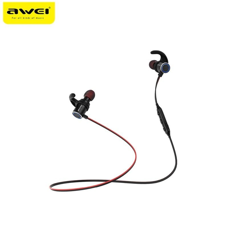 Awei AK8 IPX4 Waterproof Earphone Magic Magnet Attraction Bluetooth Sports Earphones with Microphone For iPhone samsung