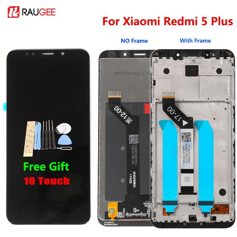 Xiaomi Redmi 5 Plus LCD Affichage à L'écran Tactile 100% Nouveau FHD 5.99 Digitizer Assemblée Remplacement Accessoire Pour Redmi5 Plus