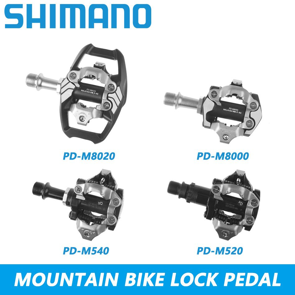 Shimano PD-M520 SPD Pedal MTB Mountain Bike Pedal M540 Self-Lockings Clipless Pedals M8000 M8020 Bike Parts With PD22 SH51 cleat