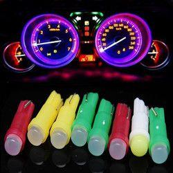 Новое поступление Лидер продаж 10 шт. Универсальный Автомобильный свет t5 COB Белый Светодиодные лампы двери автомобиля светодиодные Чтение Л...
