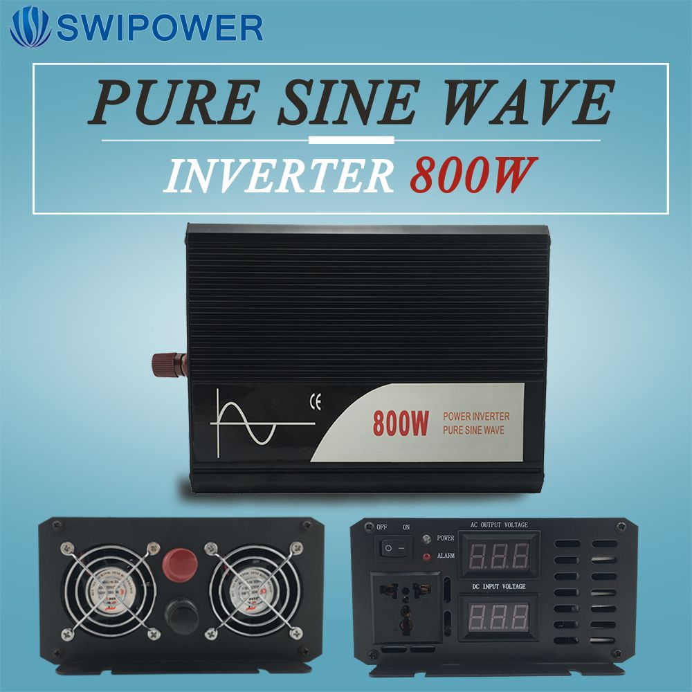 800W rein sinus solar power inverter DC 12V 24V 48V zu AC 110V 220V