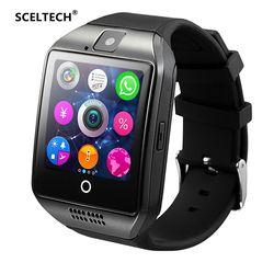 SCELTECH Bluetooth Montre Smart Watch Q18 Avec Caméra Facebook Whatsapp Twitter Sync SMS Smartwatch Soutien SIM TF Carte Pour IOS Android