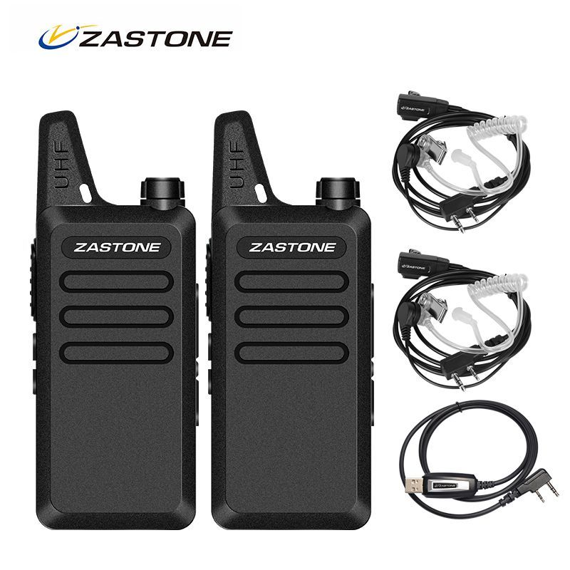2 pc Zastone ZT-X6 Portable Talkie Walkie Paire UHF 400-470 MHz 2 Way Ham Radio CB Émetteur-Récepteur Radio Talkie walkie Paire + écouteurs
