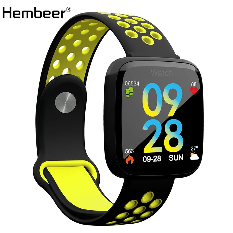 Hembeer F15 Smart Bracelet Heart Rate Monitor Blood Pressure Blood Oxygen Band Remote Camera Music Control Clock pk Fitbits