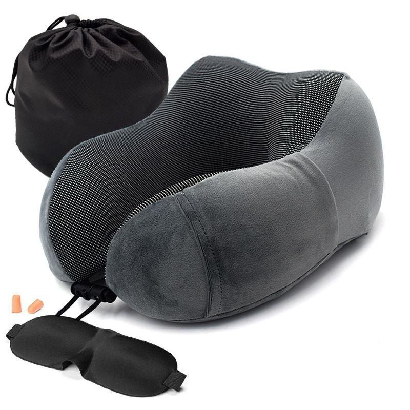 1 PC U en forme de mémoire mousse cou oreillers doux lent rebond espace voyage oreiller solide cou cervicale soins de santé literie livraison directe