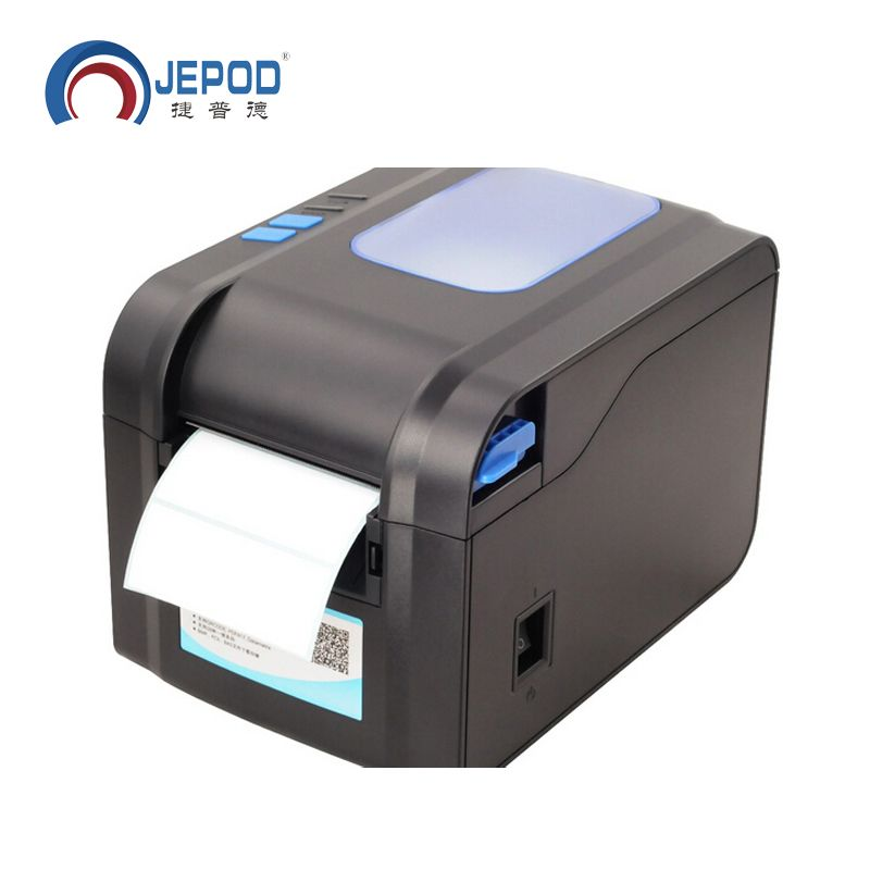 XP-370B label barcode printer thermal receipt or label printer 20mm to 80mm thermal barcode printer automatic stripping