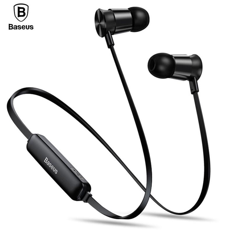 Baseus S07 Bluetooth Earphone Sport Wireless Headphone With Mic Stereo Magnet Wireless Headset Earbuds For <font><b>Phone</b></font> Fone De Ouvido